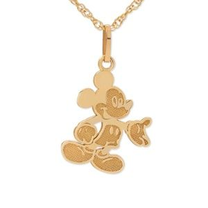 Jewelry - Disney 10kt Gold Mickey Mouse Pendant Necklace